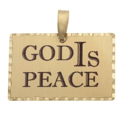 Simon Frank 'God IS Peace' Religious Charm Pendant
