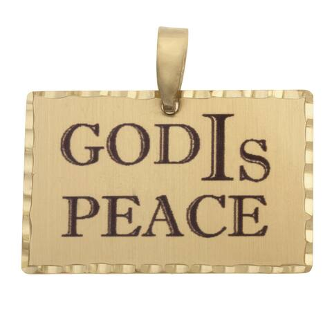 Simon Frank 'God IS Peace' Religious Charm Pendant