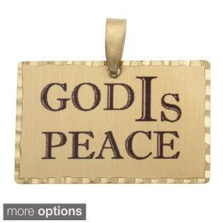 Simon Frank 'God IS Peace' Religous Charm Pendant