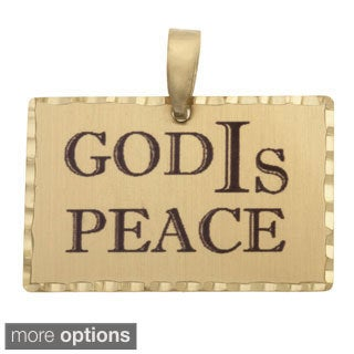 Simon Frank 'God IS Peace' Religous Charm Pendant