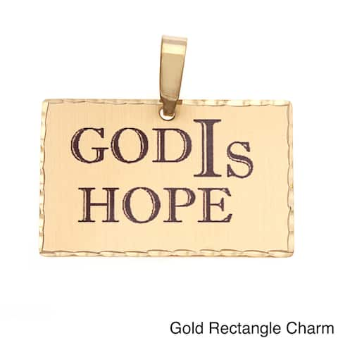 Simon Frank 'God Is Hope' Religious Charm Pendant