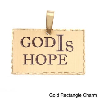 Simon Frank 'God Is Hope' Religious Charm Pendant
