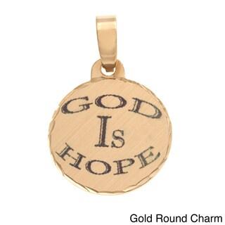 Simon Frank 'God Is Hope' Religous Charm Pendant