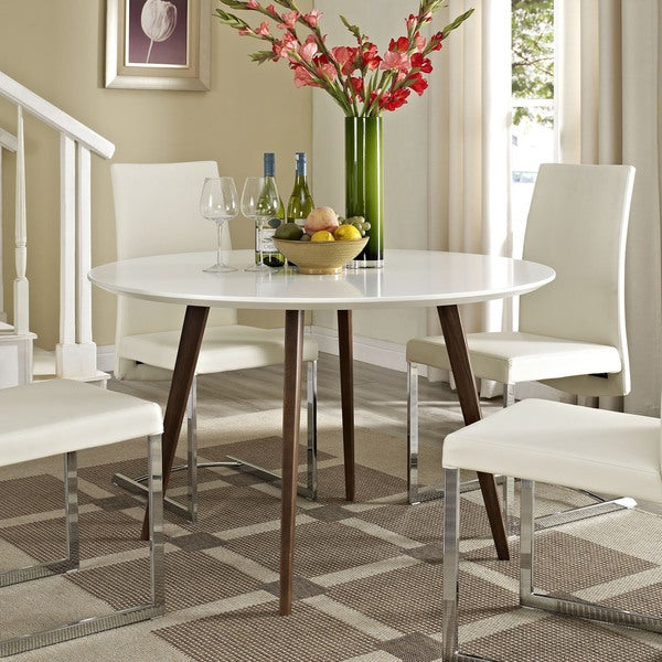 Shop Canvas White Wood Dining Table