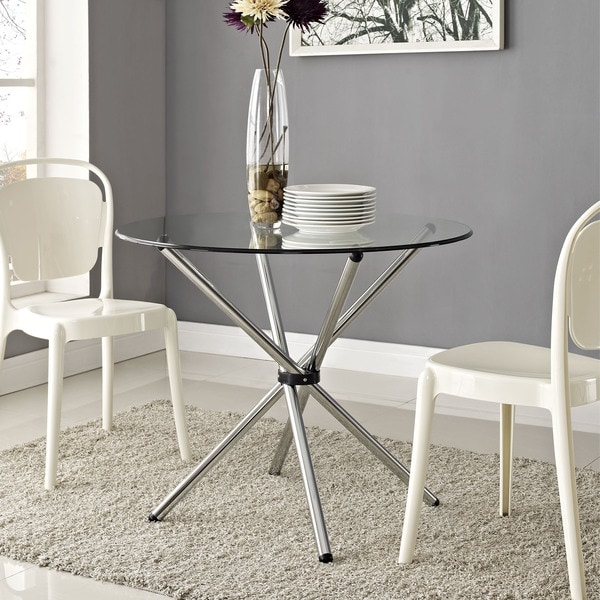 baton' clear dining table - free shipping today - overstock