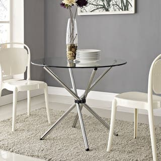 'Baton' Clear Dining Table (Option: Clear)