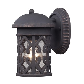 Tuscany Coast Weathered Charcoal 1-Light Outdoor Sconce