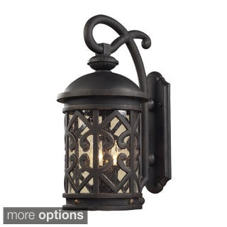 Tuscany Coast Weathered Charcoal Seeded Glass Outdoor Sconce