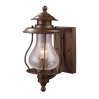 Wikshire Coffee Bronze 1-light Outdoor Sconce