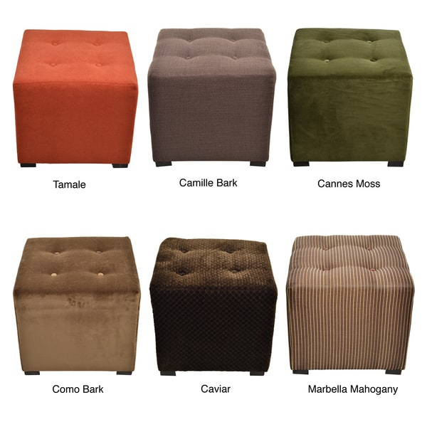 Shop Merton 4 Button Tufted Square Ottoman Free Shipping