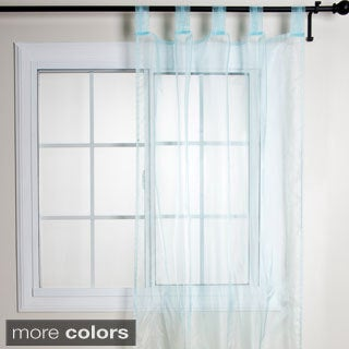 Shop Tissue Organza Sheer Tab Top Curtain Panel Free