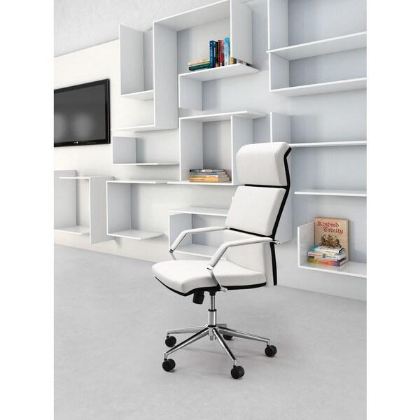 Porch & Den Hillcrest White Office Chair