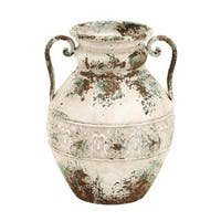 Maison Rouge Lamartine Classy Brown, Green, Fawn Finished Metal Vase