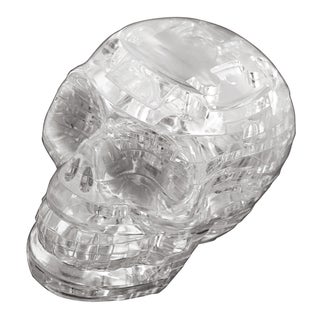 Bepuzzled 3D Crystal Clear Skull Puzzle