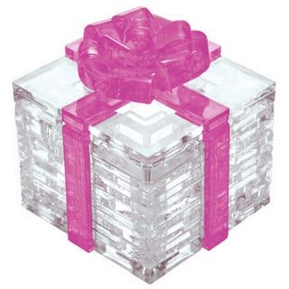 Pink Bow Gift Box 38-piece 3D Crystal Puzzle|https://ak1.ostkcdn.com/images/products/8648823/Pink-Bow-Gift-Box-38-piece-3D-Crystal-Puzzle-P15909918.jpg?impolicy=medium