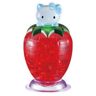 Hello Kitty on Strawberry 45-piece 3D Crystal Puzzle