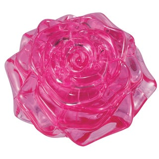 Bepuzzled Pink Rose 44-piece 3D Crystal Puzzle