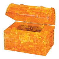 Bepuzzled Treasure Chest 52-piece 3D Crystal Puzzle