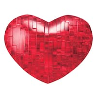 Bepuzzled Red Heart 45-piece 3D Crystal Puzzle