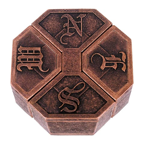 Hanayama Level 6 NEWS Cast Puzzle - Brown/Black