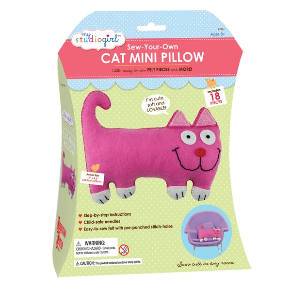 My Studio Girl 'Sew-Your-Own Cat Mini Pillow' Set