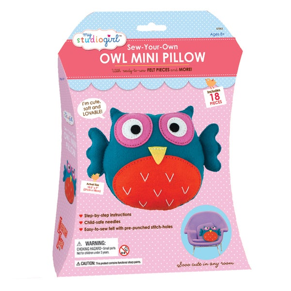 My Studio Girl 'Sew-Your-Own Owl Mini Pillow' Set