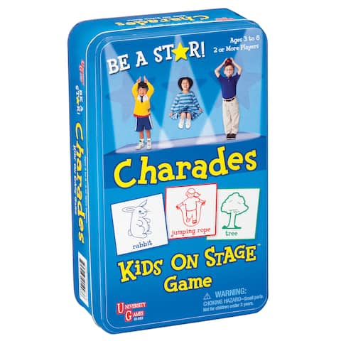 Kids on Stage Charades Game in a Tin - Blue