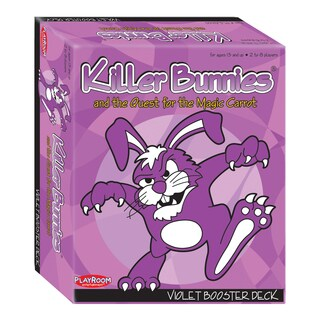 Killer Bunnies and the Quest for the Magic Carrot: Violet Booster Deck (4)|https://ak1.ostkcdn.com/images/products/8649125/Killer-Bunnies-and-the-Quest-for-the-Magic-Carrot-Violet-Booster-Deck-4-P15909816.jpg?_ostk_perf_=percv&impolicy=medium