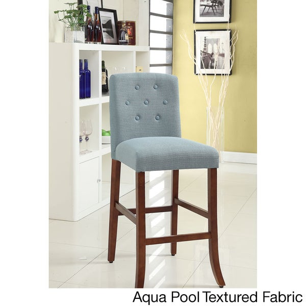 Solid Wood Tufted Parson Barstool Free Shipping Today