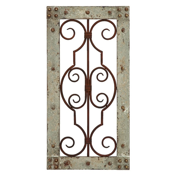 Antiqued Wood/ Metal Wall Panel