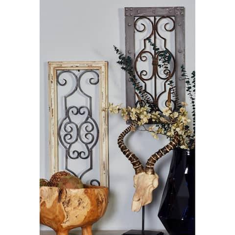 Antiqued Wood/ Metal Wall Panel