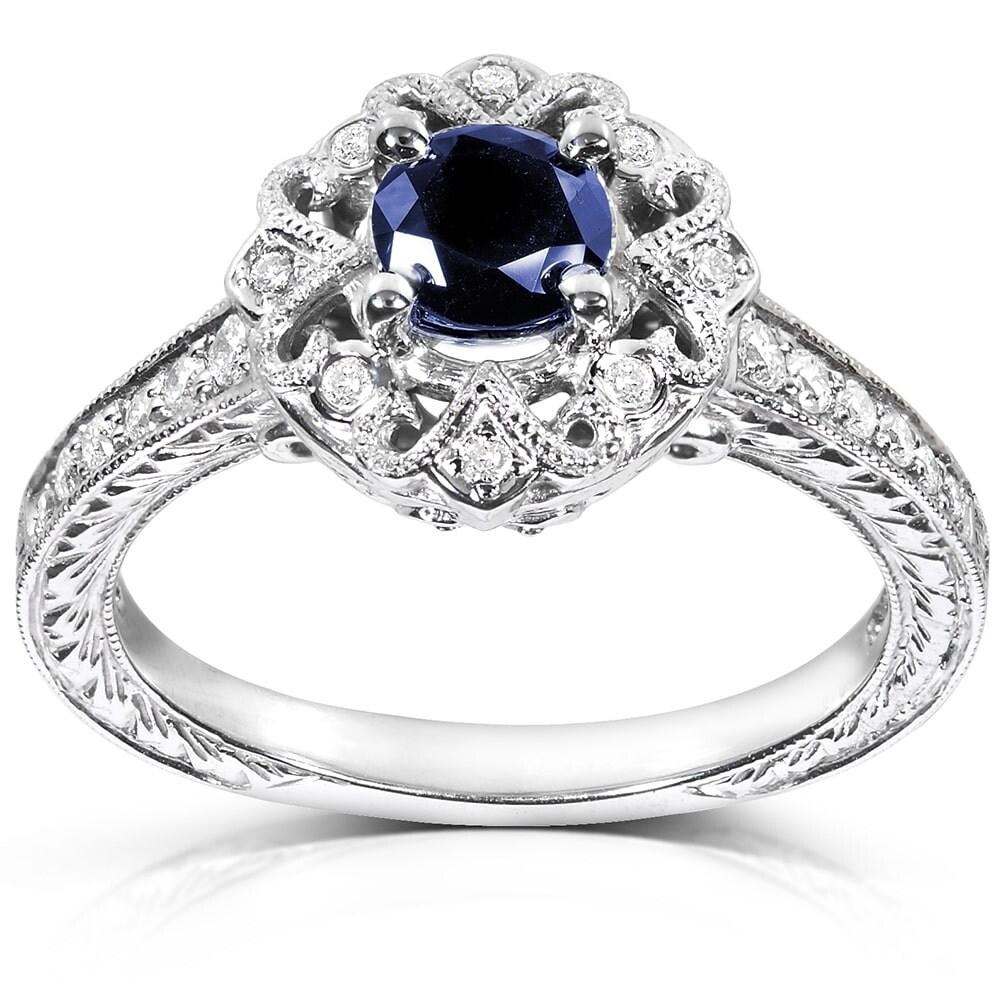 DV Jewels Blue Quartz Round Prong Set Ring