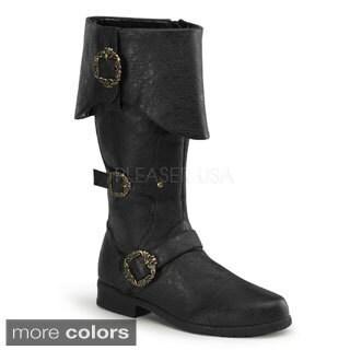Funtasma Men's Carribean-299 Cuffed Knee-High Boots