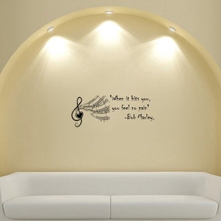 Bob Marley Quote Musical Vinyl Wall Decal Sticker