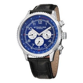 Stuhrling Original Men's Concorso Silhouette Swiss Quartz Strap  Watch