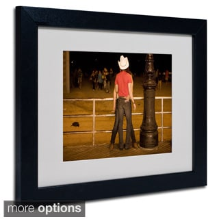 Yale Gurney 'Brooklyn Cowboy' Framed Matted Art