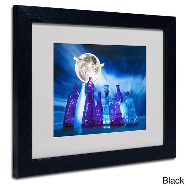 Roderick Stevens Blue Moon Framed Matted Art Free