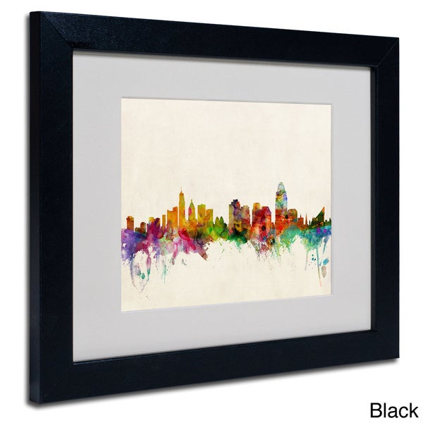 shop michael tompsett 39 cincinnati ohio 39 framed matted art free shipping today overstock. Black Bedroom Furniture Sets. Home Design Ideas