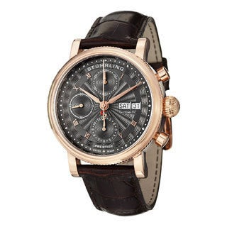 Stuhrling Original Men's Prominent Swiss Made Automatic Strap Watch