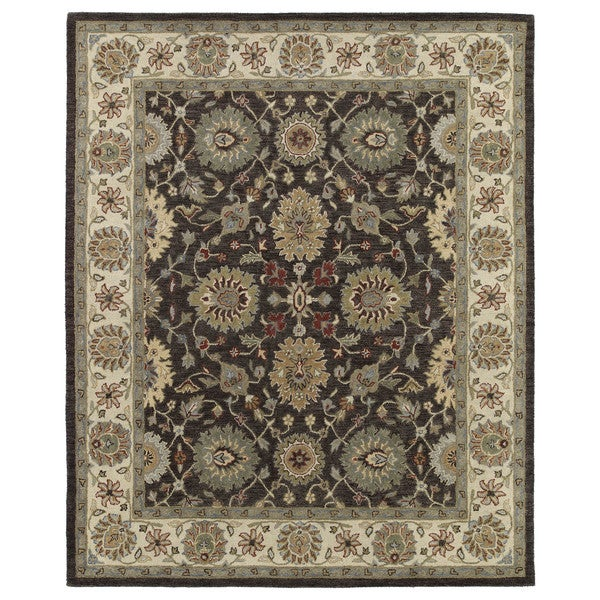 Hand-Tufted Joaquin Brown Kashan Wool Rug - 10' x 14'
