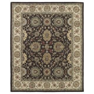 Hand-Tufted Joaquin Brown Kashan Wool Rug (8' x 10')