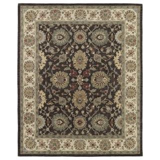 Hand-Tufted Joaquin Brown Kashan Wool Rug (8' x 10') - 8' x 10'