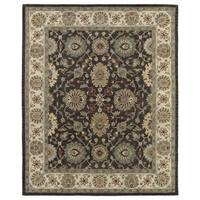 Hand-Tufted Joaquin Brown Kashan Wool Rug - 8' x 10'