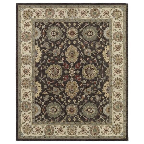 Hand-Tufted Joaquin Brown Kashan Wool Rug - 9' x 12'