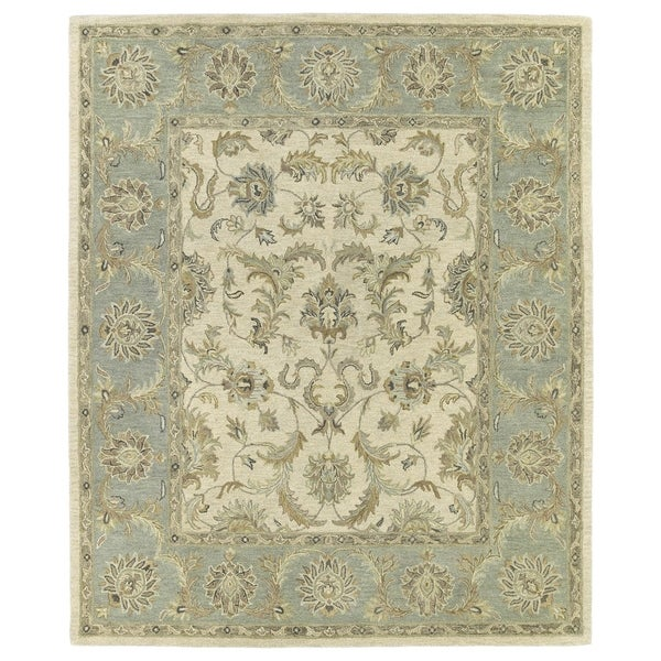 Hand-Tufted Joaquin Beige Kashan Wool Rug - Multi-color - 8' x 10'