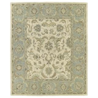 Hand-Tufted Joaquin Beige Kashan Wool Rug (8' x 10')