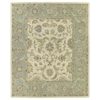 Hand-Tufted Joaquin Beige Kashan Wool Rug - Ivory - 8' x 10'