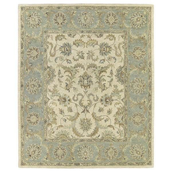 Shop Classical Kashan Medallion Hand Knotted Persian Wool: Hand-Tufted Joaquin Beige Kashan Wool Rug (9' X 12