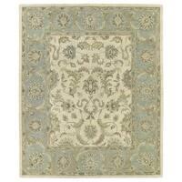Hand-Tufted Joaquin Beige Kashan Wool Rug (9' x 12') - 9' x 12'