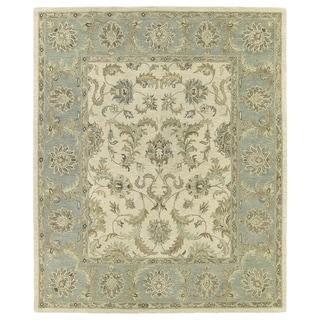 Hand-Tufted Joaquin Beige Kashan Wool Rug (10' x 14') - 10' x 14'